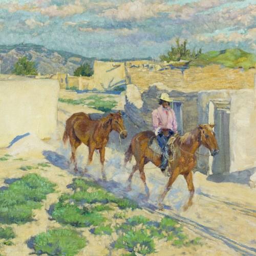 Walter Ufer - Riding Through Isleta